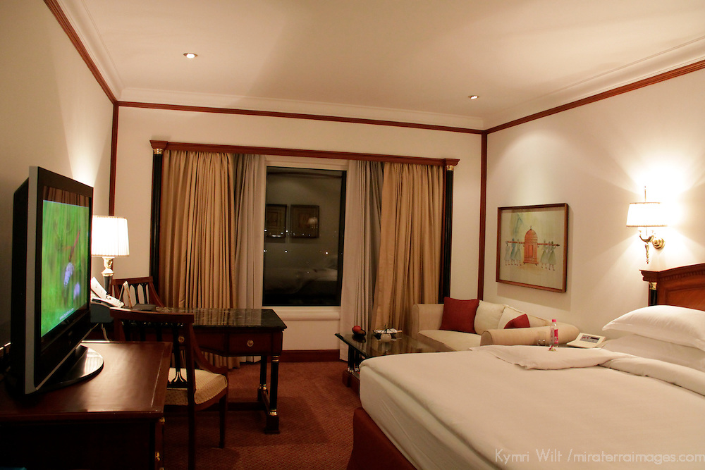Asia, India, New Delhi. Room at The Taj Mahal Hotel, New Delhi.