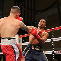 KISSIMMEE, FL - MARCH 06:  Jeffrey Ramos (R) trades punches with Jovan Perez during the Telemundo Boxeo boxing match at the Kissimmee Civic Center on March 6, 2015 in Kissimmee, Florida. Ramos won the bout by split decision. (Photo by Alex Menendez/Getty Images) *** Local Caption *** Felix Verdejo; Sergio Villanueva