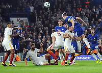Football - 2017 / 2018 UEFA Champions League - Group C: Chelsea vs. A.S. Roma<br /> <br /> Gary Cahill of Chelsea tries to win the game in the dying minutes with a header at Stamford Bridge.<br /> <br /> COLORSPORT/ANDREW COWIE