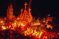 Night of the Dead (Noche de Muertos), November 1, Tzintzuntzan Cemetery, near Patzcuaro, Michoacan, Mexico