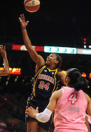 Aug 8, 2010; Phoenix, AZ, USA; Indiana Fever forward Tamika Catchings puts up a basket during the first half in at US Airways Center.  Mandatory Credit: Jennifer Stewart-US PRESSWIRE