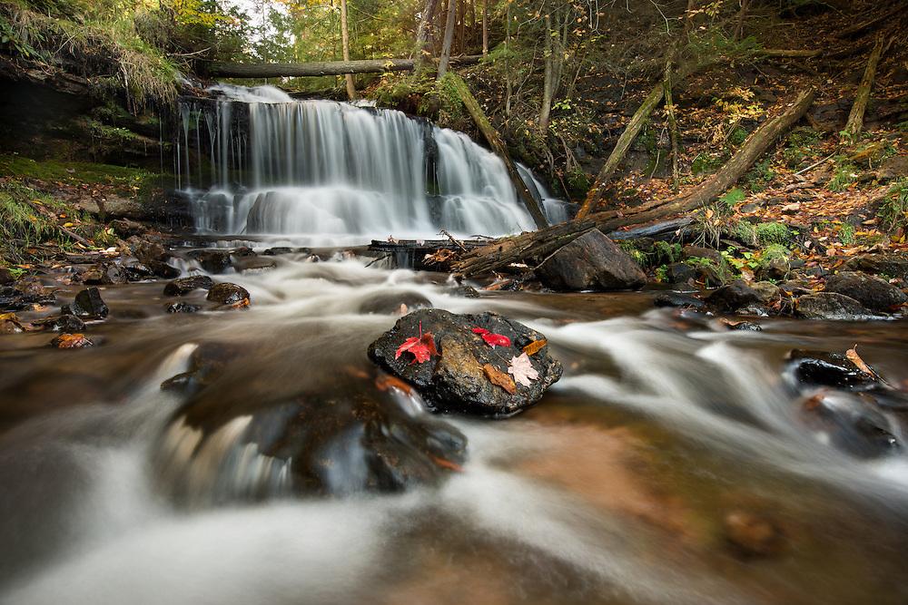 Wagner Falls near Munising<br /> in Michigan's Upper Peninsula