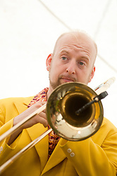 On Trombone is Alex Douglas..9 September 2012.Image © Paul David Drabble