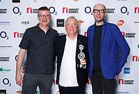 The Chemical Brothers backstage with Bernard Sumner during The O2 Silver Clef Awards 2019, Grosvenor House, London, UK, Friday 05 July 2019<br /> Photo JM Enternational
