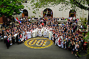 Parishioners pose for a group photo with Chicago Archbishop Francis Cardinal George following a centennial anniversary mass in honor of at St. Jerome Croatian Parish in Chicago's Bridgeport neighborhood. April 29, 2012 l Brian J. Morowczynski~ViaPhotos..For use in a single edition of Catholic New World Publications, Archdiocese of Chicago. Further use and/or distribution may be negotiated separately. ..Contact ViaPhotos at 708-602-0449 or email brian@viaphotos.com.