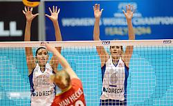 10-08-2014 NED: FIVB Grand Prix Belgie - Puerto Rico, Doetinchem<br /> Lynda Morales, Yarimar Rosa
