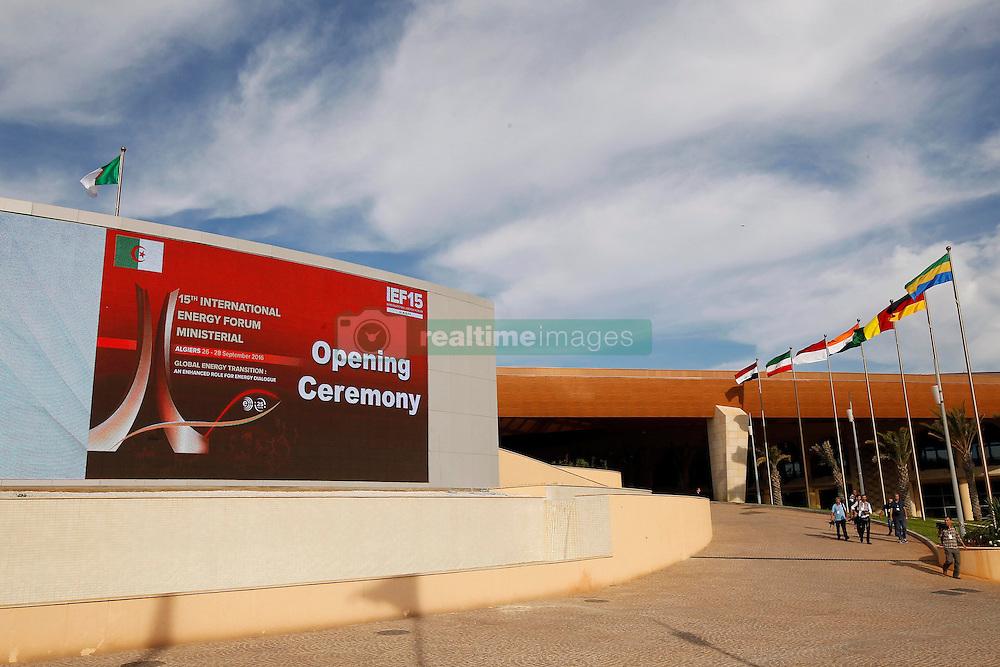 September 27, 2016 - Algiers, Algeria - 15th International Energy Forum (IEF15) informal meeting of the Organization of Petroleum Exporting Countries (OPEC) in the nation palaces bread club. Algiers on 27/09/2016  (Credit Image: © Billal Bensalem/NurPhoto via ZUMA Press)