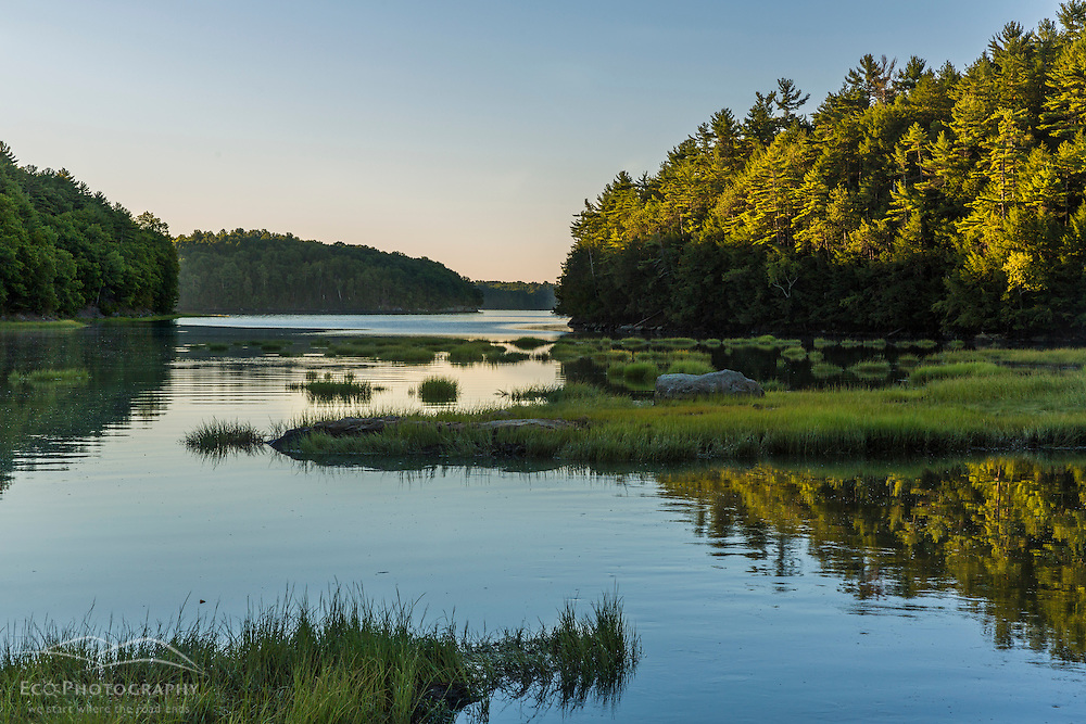 Crommet Creek near where it enters Great Bay at Adams Point in Durham, New Hampshire.