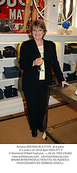 Actress BRENDA BLETHYN  at a party in London on 22nd April 2004.PTI 9