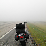 Riding The Foggy Plains To Sturgis South Dakota For The Motorcycle Rally