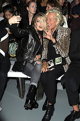 © Licensed to London News Pictures. 17/09/2016.  FERGIE and ELLEN VON UNWERTH attend the GARETH PUGH Spring/Summer 2017 show. Models, buyers, celebrities and the stylish descend upon London Fashion Week for the Spring/Summer 2017 clothes collection shows. London, UK. Photo credit: Ray Tang/LNP