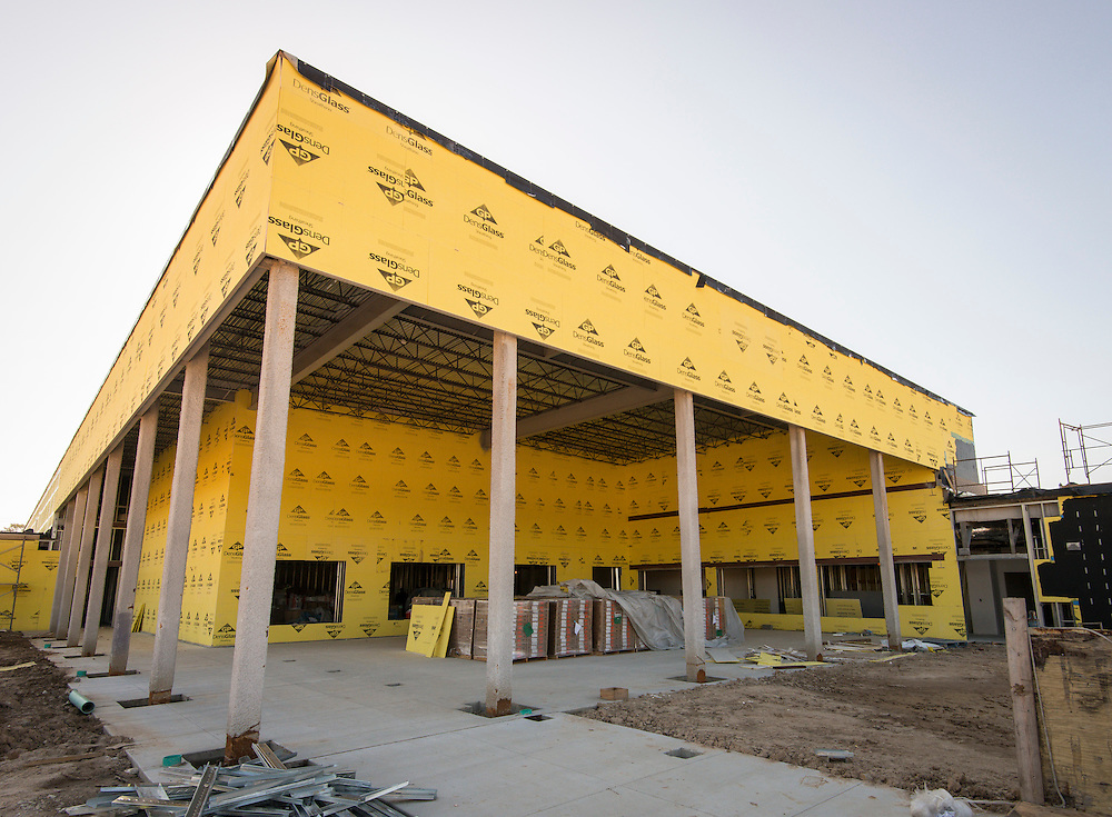 Construction work at North Forest Early Childhood Center, March 22, 2016.