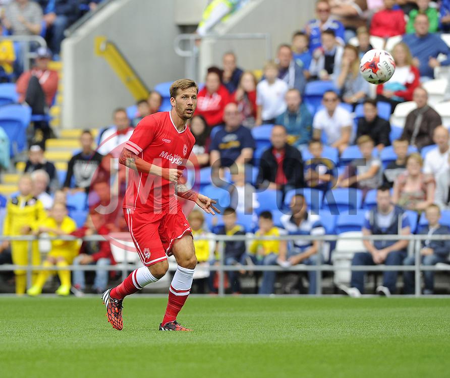 Cardiff City's Guido Burgstaller - Photo mandatory by-line: Joe Meredith/JMP - Mobile: 07966 386802 02/08/2014 - SPORT - FOOTBALL - Cardiff - Cardiff City Stadium - Cardiff City v VfL Wolfsburg - Pre-Season Friendly