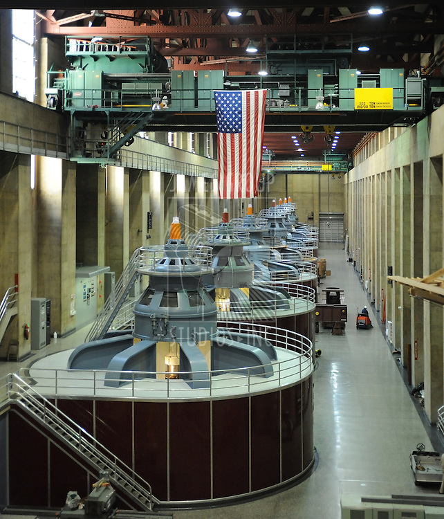 Hydro electric turbines at the Hoover Dam