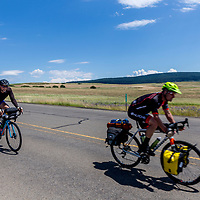 Cyclists in Wallowa County, Oregon