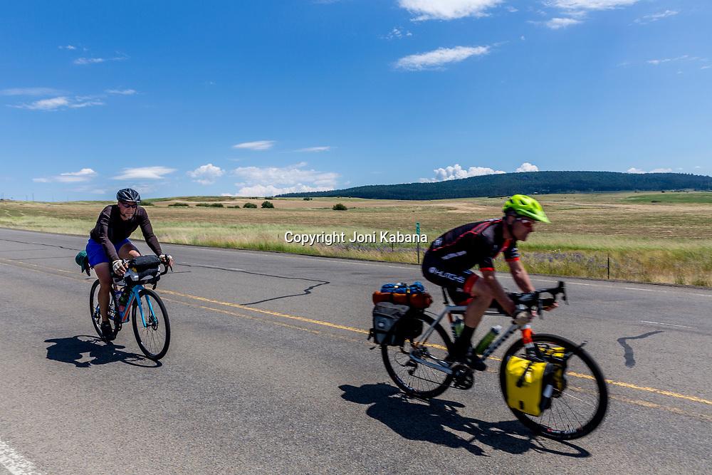 Cyclists in Wallowa County, Oregon