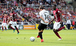 Jack Marriott of Peterborough United scores to make it 3-0 - Mandatory by-line: Joe Dent/JMP - 26/08/2017 - FOOTBALL - Sixfields Stadium - Northampton, England - Northampton Town v Peterborough United - Sky Bet League One