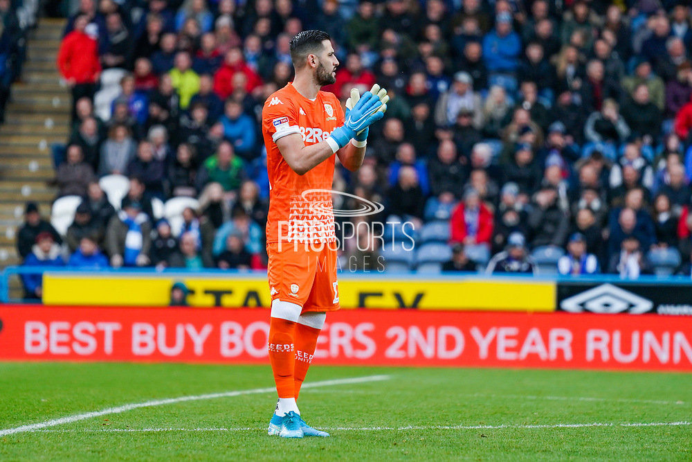 Leeds United goalkeeper Kiko Casilla (13) in action during the EFL Sky Bet Championship match between Huddersfield Town and Leeds United at the John Smiths Stadium, Huddersfield, England on 7 December 2019.