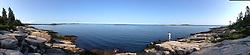 Panorama: Schoodic Peninsula, Acadia National Park, Mount Desert Island, Maine, US