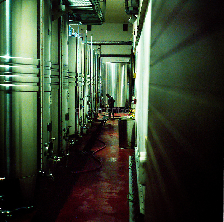 Cooling and fermenting tanks at the Chateau Sainte Roseline, Les-Arcs-sur-Argens, France