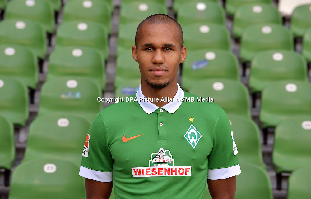 German Soccer Bundesliga - Official Photocall Werder Bremen,  Germany, on Sept. 14th 2014:<br /> Theodor Gebre Selassie.