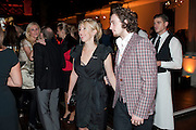 SAM TAYLOR WOOD; AARON JOHNSON, Harpers Bazaar Women of the Year Awards. North Audley St. London. 1 November 2010. -DO NOT ARCHIVE-© Copyright Photograph by Dafydd Jones. 248 Clapham Rd. London SW9 0PZ. Tel 0207 820 0771. www.dafjones.com.