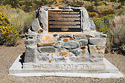 Historic placque at the June Lake Mining District, June Lake, California USA
