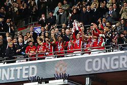 Wayne Rooney of Manchester United lifts the EFL Trophy - Mandatory by-line: Matt McNulty/JMP - 26/02/2017 - FOOTBALL - Wembley Stadium - London, England - Manchester United v Southampton - EFL Cup Final