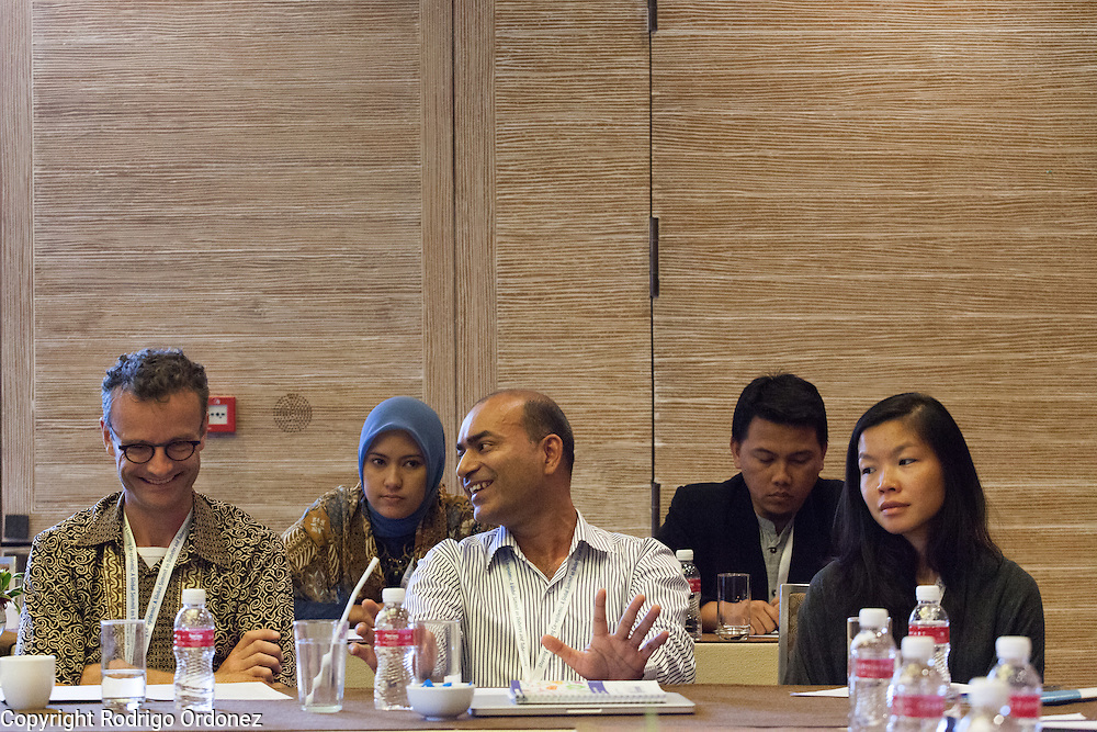 Participants discuss specific actions to fight the co-epidemic at the global summit on diabetes and tuberculosis in Bali, Indonesia, on November 3, 2015.<br /> The increasing interaction of TB and diabetes is projected to become a major public health issue.&nbsp;The summit gathered a hundred public health officials, leading researchers, civil society representatives and business and technology leaders, who committed to take action to stop this double threat. (Photo: Rodrigo Ordonez for The Union)