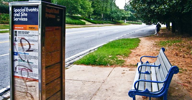 MARTA bus stop Sandy Springs