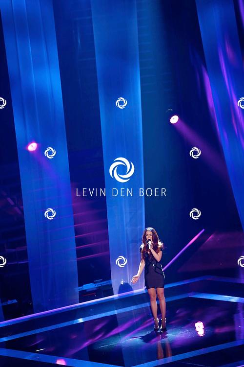HILVERSUM - In studio 22 is de eerste liveshow van The Voice of Holland gehouden. Met hier op de foto  Jill Helena. FOTO LEVIN DEN BOER - PERSFOTO.NU