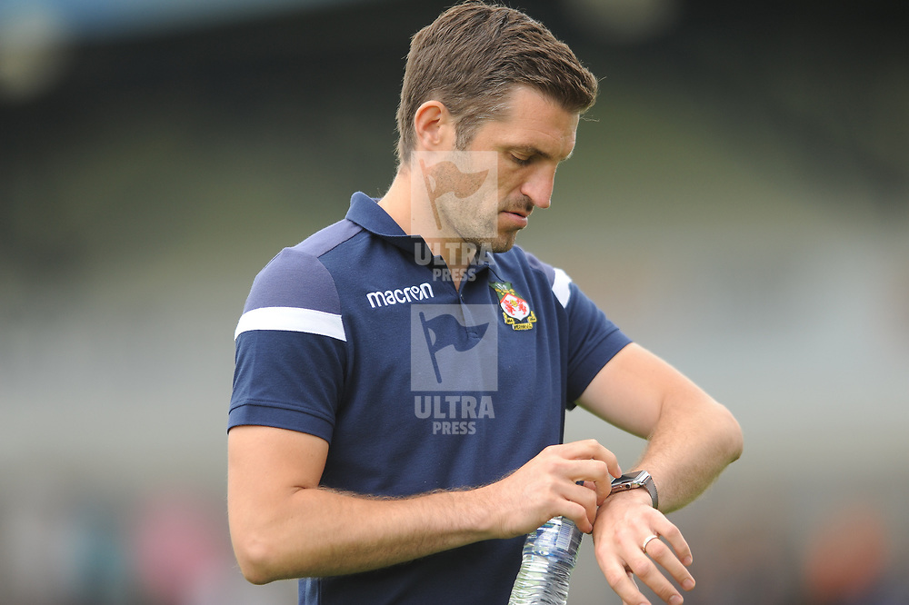 21/7/2018 - Sam Ricketts during the pre season friendly fixture between AFC Telford United and Wrexham at the New Bucks Head Stadium, Telford.<br /> <br /> Pic: Mike Sheridan/Newsquest NW<br /> MS173-2018