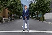 Tokyo, Japan, October 18 2017 - Portrait of Noriyuki YAMAGUCHI, a journalist accused of rape by Shiori ITO. Mr YAMAGUCHI is a close associate of Prime Minister Shinzo ABE and has written two hagiographies about him. Ms ITO decided to go public after police don't prosecute.