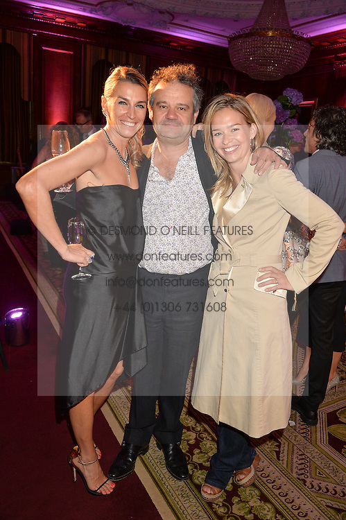 "Left to right, ASSIA WEBSTER, MARK HIX and MARISSA HERMER at the presentation of Le Prix Champagne De La Joie de Vivre to Stephen Webster in celebration of his long standing contribution to ""Joie de Vivre' held at the Council Room, One Great George Street, London on 22nd April 2015."