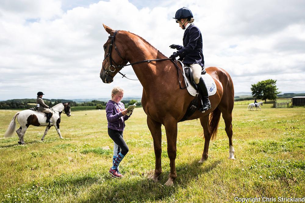 ISEC, Selkirk, Scottish Borders, UK. 16th July 2016. Four star eventer Emily Galbraith  at the Ian Stark Equestrian Centre near Selkirk in the Scottish Borders.