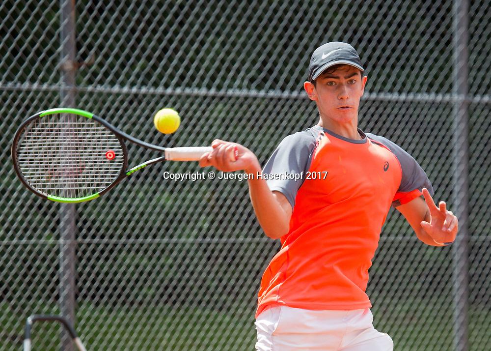 MATTEO FEGGI (GER) Bavarian Junior Open 2017, Tennis Europe Junior Tour, BS16<br /> <br /> Tennis - Bavarian Junior Open 2017 - Tennis Europe Junior Tour -  SC Eching - Eching - Bayern - Germany  - 9 August 2017. <br /> &copy; Juergen Hasenkopf