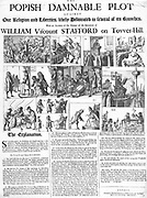 contemporary broadsheet with depiction of Sir Thomas Stafford and the Popish Plot