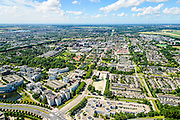 Nederland, Noord-Holland, Hoofddorp, 01-08-2016; Kruisweg richting Geniedijk, Beukenhorst in de voorgrond.<br /> Overview Hoofddorp.<br /> luchtfoto (toeslag op standard tarieven);<br /> aerial photo (additional fee required);<br /> copyright foto/photo Siebe Swart