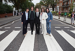 Image ©Licensed to i-Images Picture Agency. 08/08/2014. London, United Kingdom. The Beatles Abbey road 45th anniversary mass crossing. Members of 'Let it Be'  musical get together in Abbey Road for the 45th anniversary. Picture by Daniel Leal-Olivas / i-Images