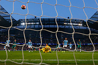 Football - 2018 / 2019 UEFA Champions League - Quarter-Final, Second Leg: Manchester City (0) vs. Tottenham Hotspur (1)<br /> <br /> Son Heung-Min of Tottenham Hotspur scores his sides first goal to make the score 1-1, at The Etihad.<br /> <br /> COLORSPORT/PAUL GREENWOOD