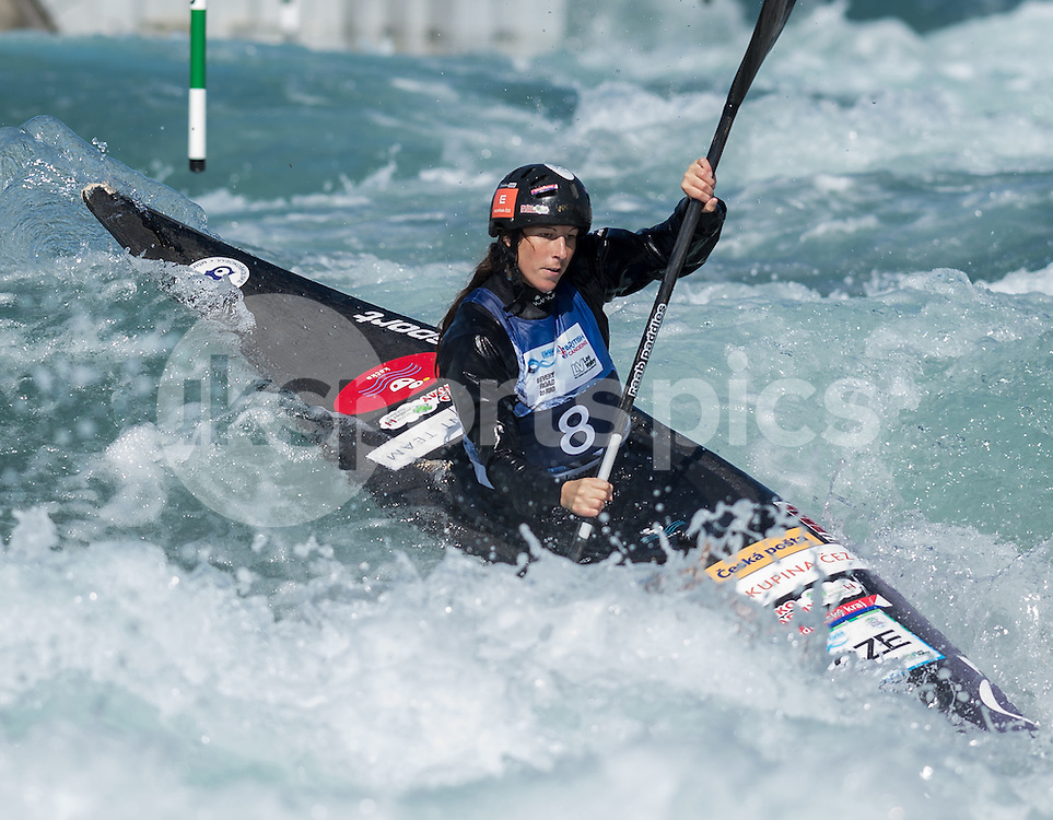 Katerina Kudejova of Czech Republic competes in the K1 during the ICF Canoe Slalom World Championship 2015 at Lee Valley White Water Centre, London, United Kingdom on 19 September 2015. Photo by Vince  Mignott.