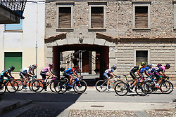 The peloton speed through small villages along the circuit during Stage 10 of 2019 Giro Rosa Iccrea, a 120 km road race from San Vito al Tagliamento to Udine, Italy on July 14, 2019. Photo by Sean Robinson/velofocus.com
