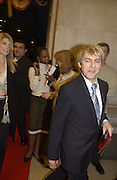 Meredith Ostrom and Nick Rhodes.  Bollywood party. Selfridges. 2 May 2002. © Copyright Photograph by Dafydd Jones 66 Stockwell Park Rd. London SW9 0DA Tel 020 7733 0108 www.dafjones.com