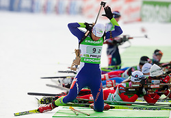 Teja Gregorin of Slovenia during the Mixed 2x6 + 2x7,5km relay of the e.on IBU Biathlon World Cup on Saturday, December 19, 2010 in Pokljuka, Slovenia. The fourth e.on IBU World Cup stage is taking place in Rudno polje - Pokljuka, Slovenia until Sunday December 19, 2010. (Photo By Vid Ponikvar / Sportida.com)