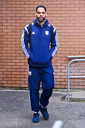 West Brom's Joleon Lescott arrives at Turf Moor - Photo mandatory by-line: Matt McNulty/JMP - Mobile: 07966 386802 - 08/02/2015 - SPORT - Football - Burnley - Turf Moor - Burnley v West Brom - Barclays Premier League