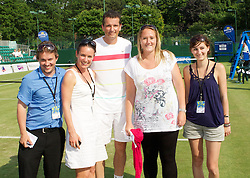 MANCHESTER, ENGLAND: Richard Krajicek (NED) with the Northern Vision team Jorg Krieger , Michelle Bennett, Kris George on Day 4 of the Manchester Masters Tennis Tournament at the Northern Tennis Club. (Pic by David Tickle/Propaganda)