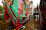 Colorful buildings in La Boca district in Buenos Aires, Argentina
