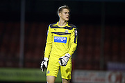 U21 Newcastle United's Nathan Harker during the Barclays U21 Premier League match between U21 Brighton and Hove Albion and U21 Newcastle United at the Checkatrade.com Stadium, Crawley, England on 23 March 2016.
