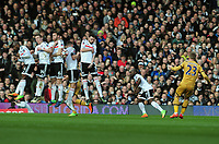 Football - 2016 / 2017 FA Cup - Fifth Round: Fulham vs. Tottenham Hotspur<br /> <br /> Christian Eriksen of Spurs smashes the ball against the Fulham wall at Craven Cottage.<br /> <br /> COLORSPORT/ANDREW COWIE