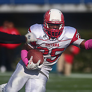 Smyrna running back William Knight (25) carries the ball during the DIAA division one Football Championship game between Top-seeded Middletown (11-0) and second-seeded Smyrna (11-0) Saturday, Dec. 03, 2016 at Delaware Stadium in Newark.